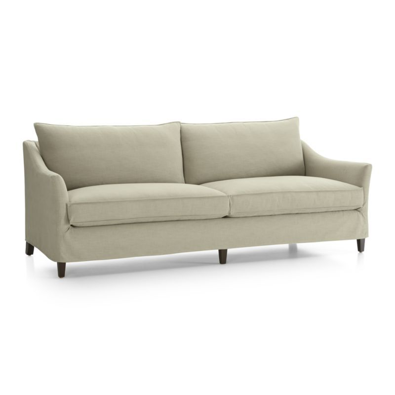 Keely 2 Seat Slipcovered Sofa Crate And Barrel Living Room