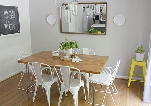 Ikea Butcher Block Dining Room Table Hair Pin Legs