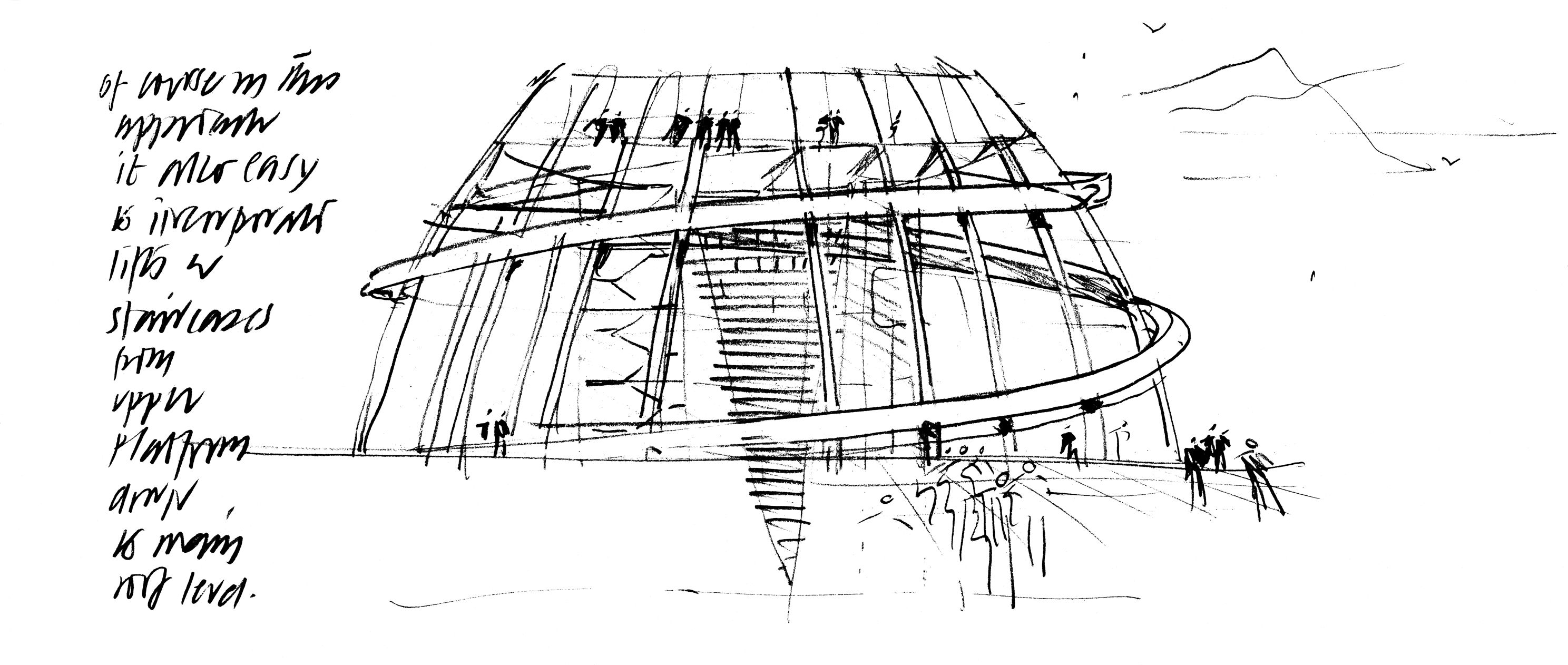 sir norman foster berlin dome sketch