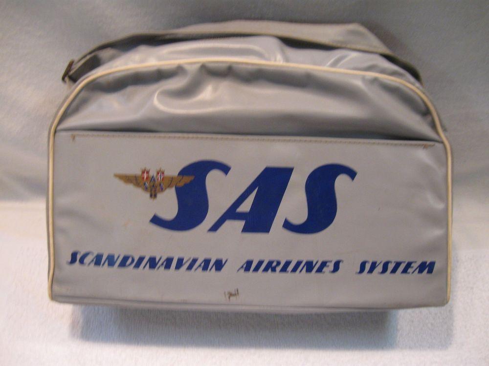 Vintage Scandinavian Airlines System Sas Gray Travel Bag Grey Travel Bag Scandinavian Airlines System Scandinavian