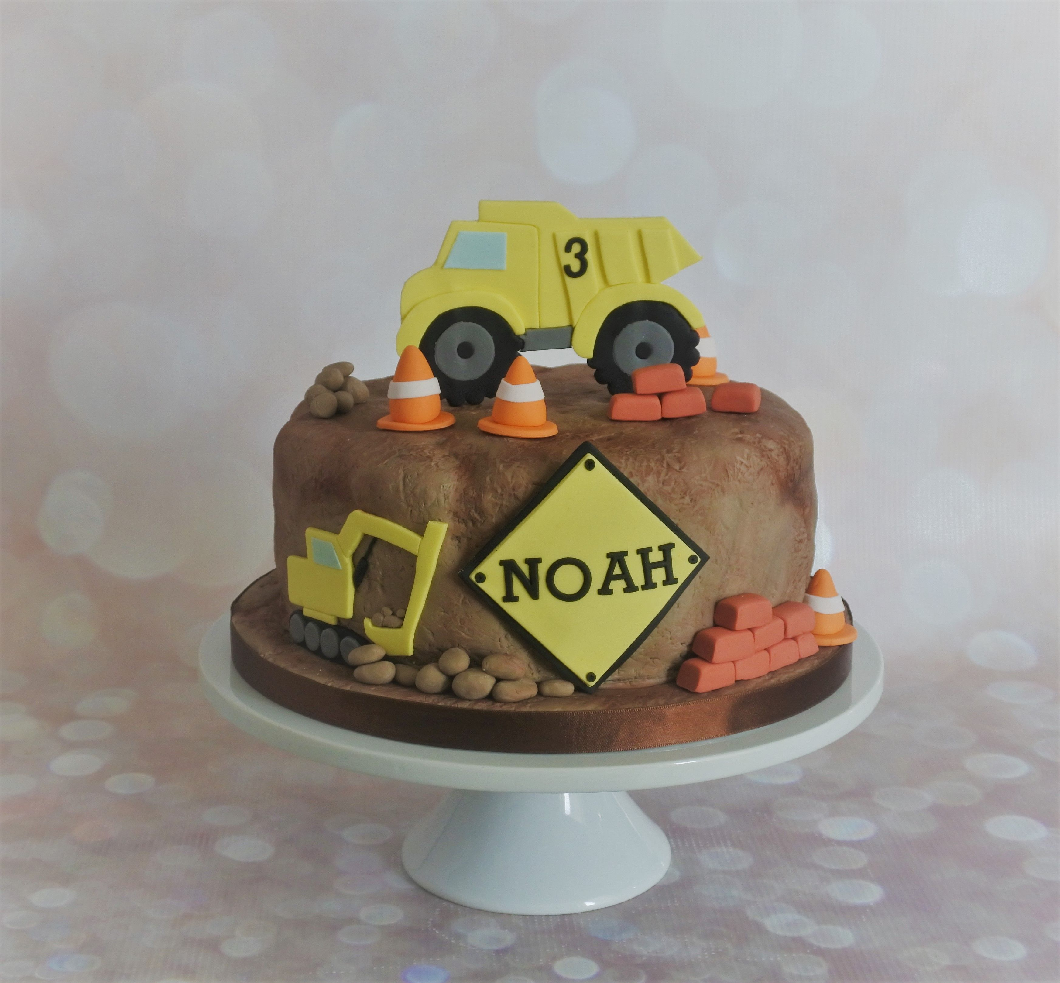 Construction Themed Cake Kids birthday cake Pinterest Cake