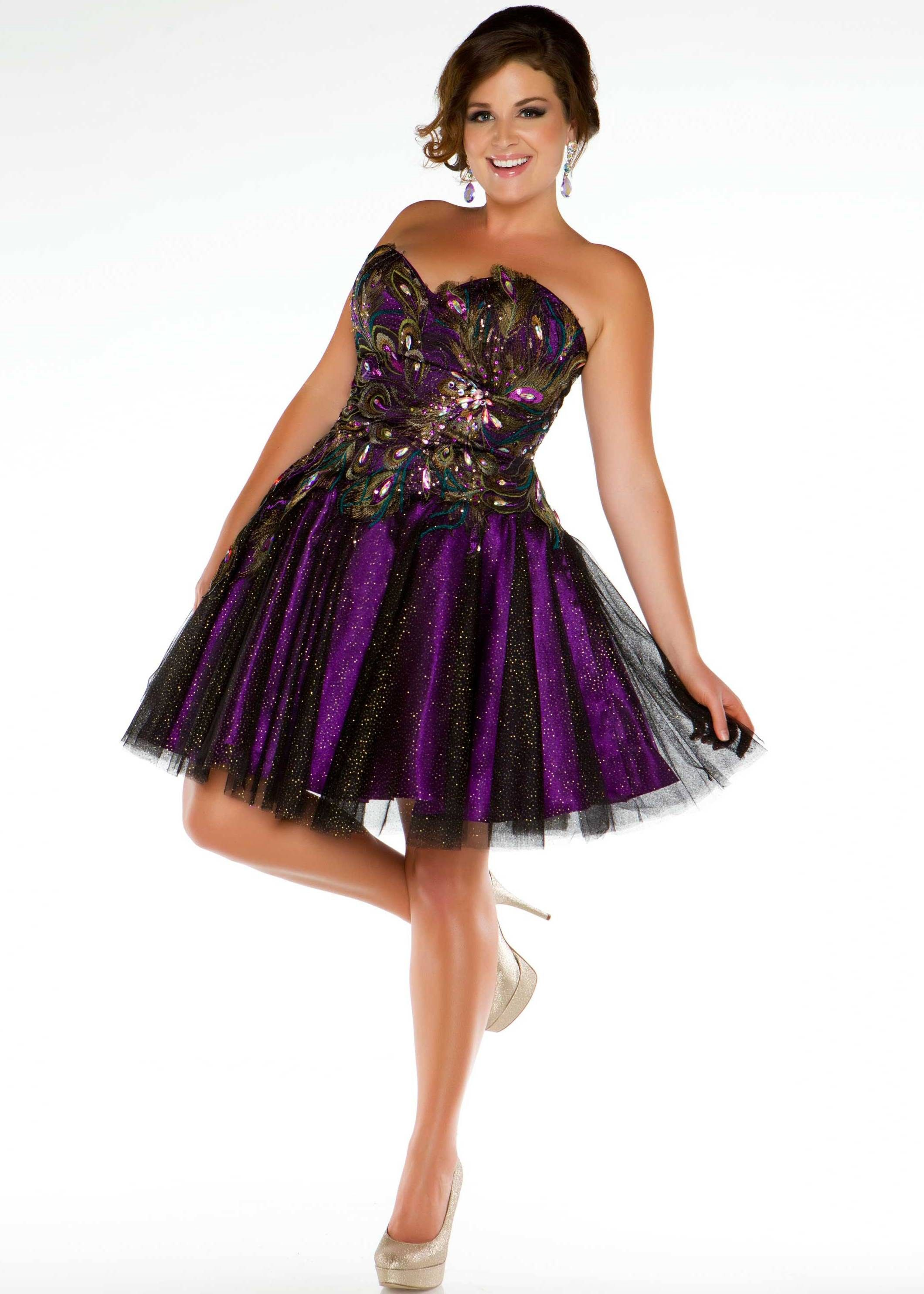 Love the peacock and sparkles on this purple prom dress! - Fabulouss ...