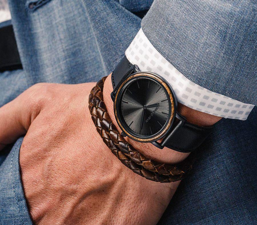 Original Grain Latest Ebony / Matte Black Minimalist Watch ...
