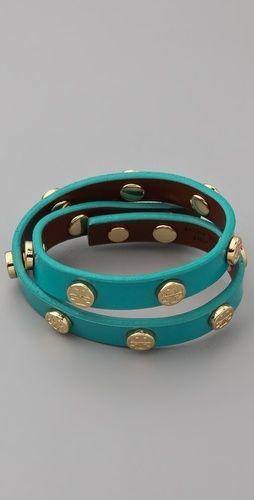 Tory Burch Tory Double Wrap Patent Logo Bracelet - StyleSays