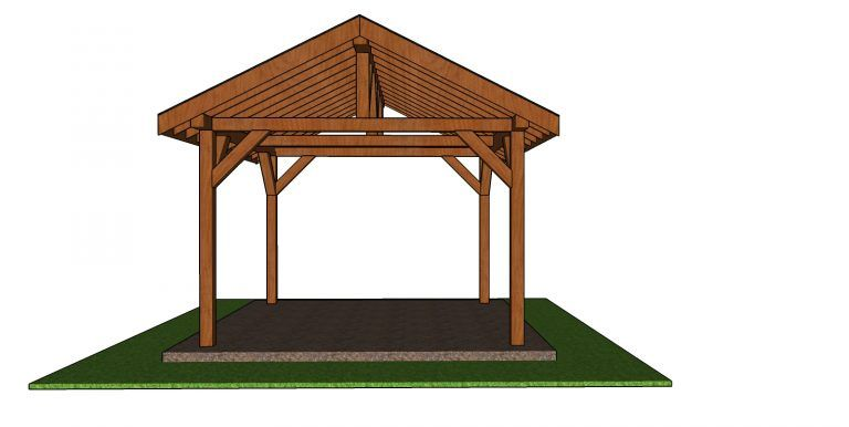 12x12 Outdoor Pavilion Free Diy Plans Howtospecialist How To Build Step By Step Diy Plans In 2020 Outdoor Pavilion Diy Plans Pavilion