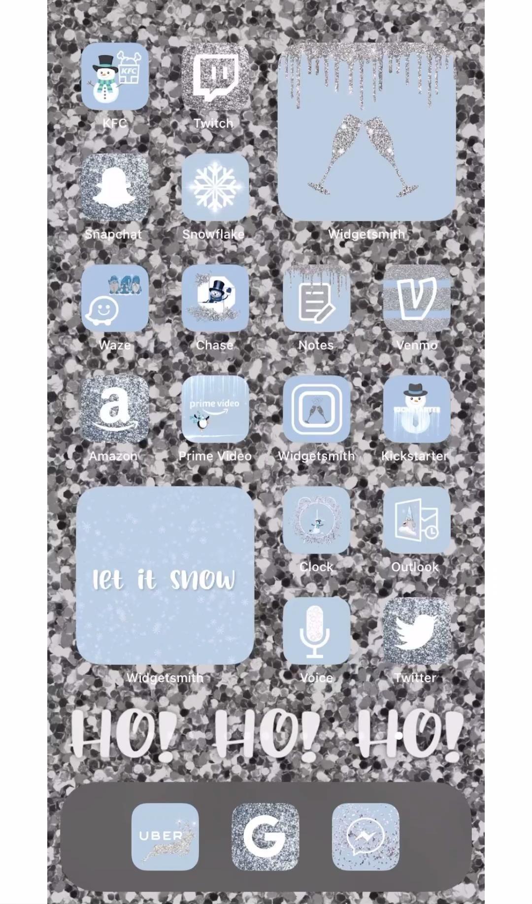 App Icons Snowy iOS 14 Christmas Aesthetic Winter
