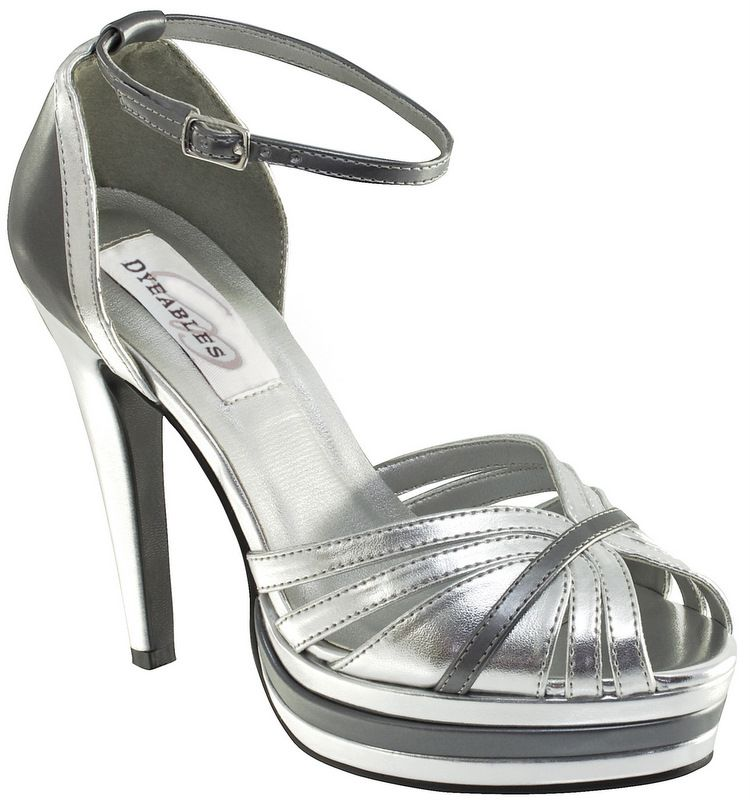 4a8dbc71466f Purple Dress · Silver Pewter Dyeables January Bridal Shoes  http   www.bellissimabridalshoes.com