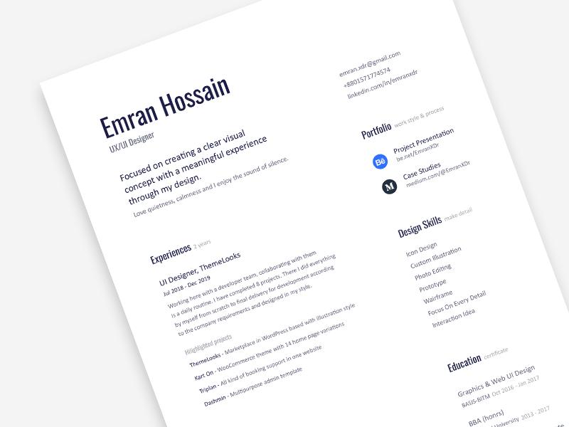 59 Free Cv Design Minimalist Ideas In 2020 Graphic Design Resume Resume Design Resume Template