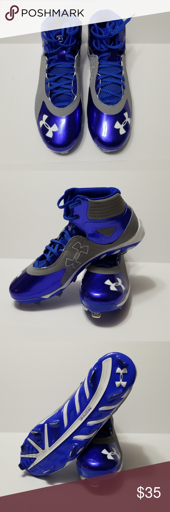 Under Armour Clutchfit Spine Metal Baseball Cleats Nwt