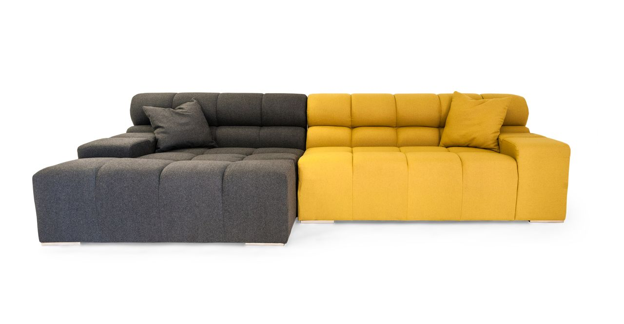 Cubix Sofa Sectional Left Charcoal Arylide Modern Modular Sofas