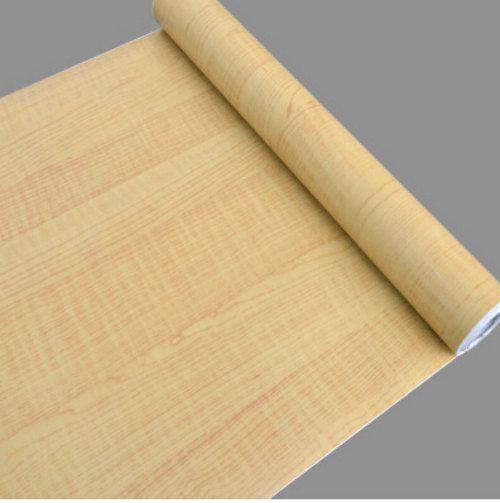 Kitchen Cabinet Lining Ideas: Ash Birch Wood Grain Contact Paper, Shelf Liner, Self