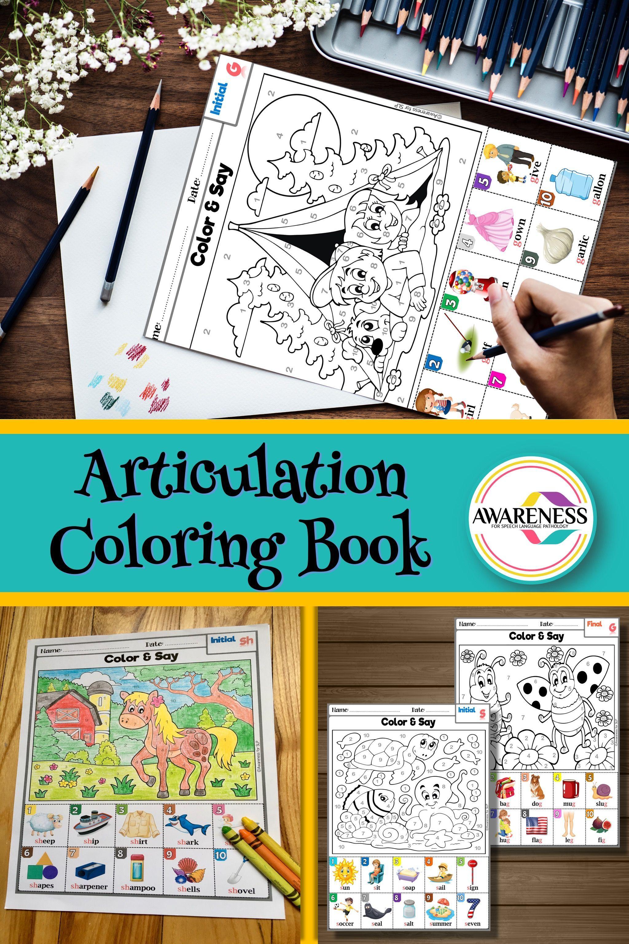 Articulation Coloring Worksheet