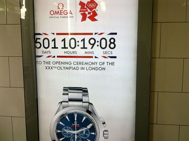 OMEGA (Best): Of course the timekeeping sponsor of the Olympics would offer a countdown, but this digital out of home ad was still a nice idea despite its obviousness.