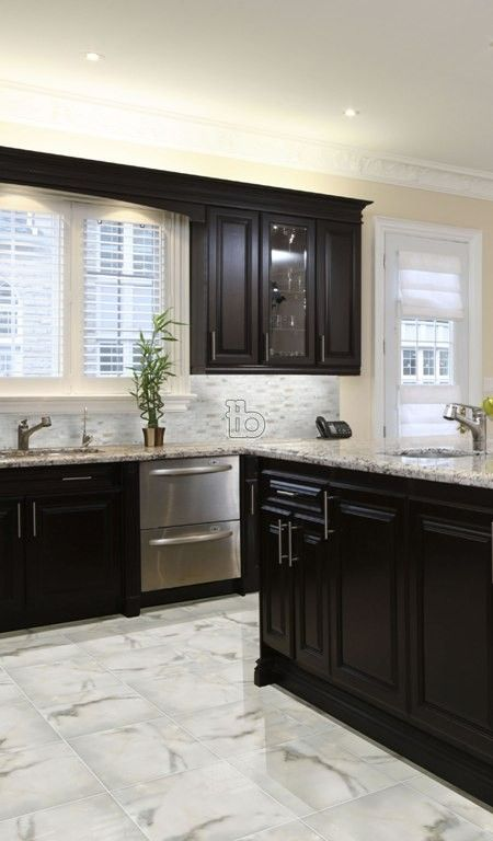 Calacatta Gold 18x18 Polished Home Remodeling Kitchen Design