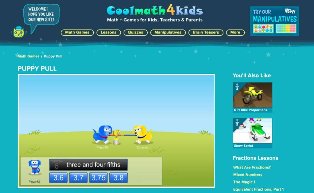 Add subtract multiply divide games for kids math