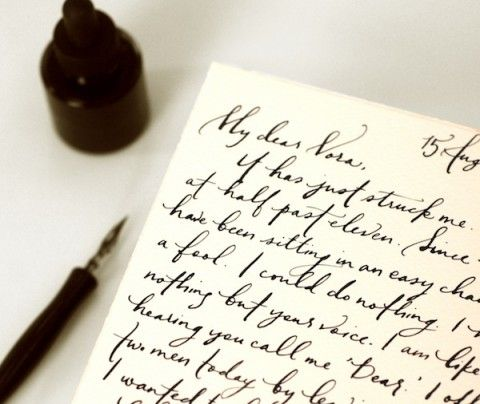 i wish people still wrote with such beautiful handwriting.