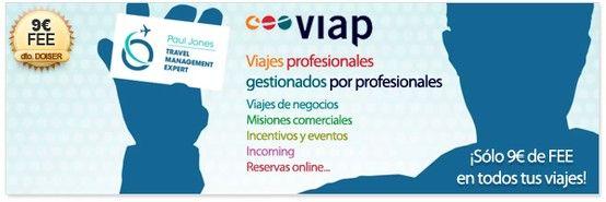Gestión integral de viajes de empresa con Viap con sólo 9€ de fee en todas las reservas