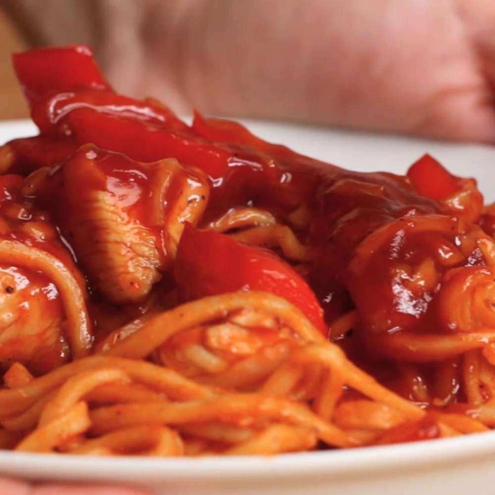 sweetandsour chicken noodles  recipe  recipes ginger