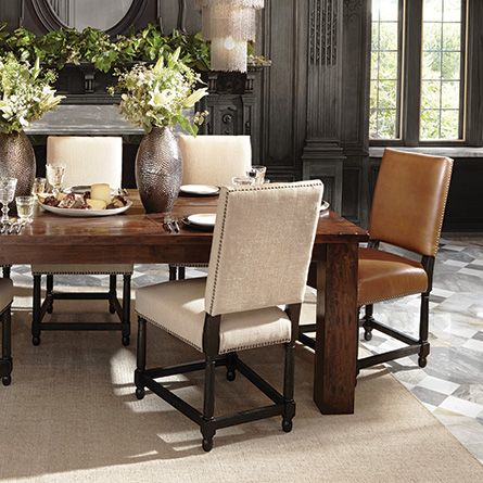 Vail Chair In Linen  Kitchen & Dining Ideas  Pinterest  Dining Unique Upholstered Dining Room Chairs Review