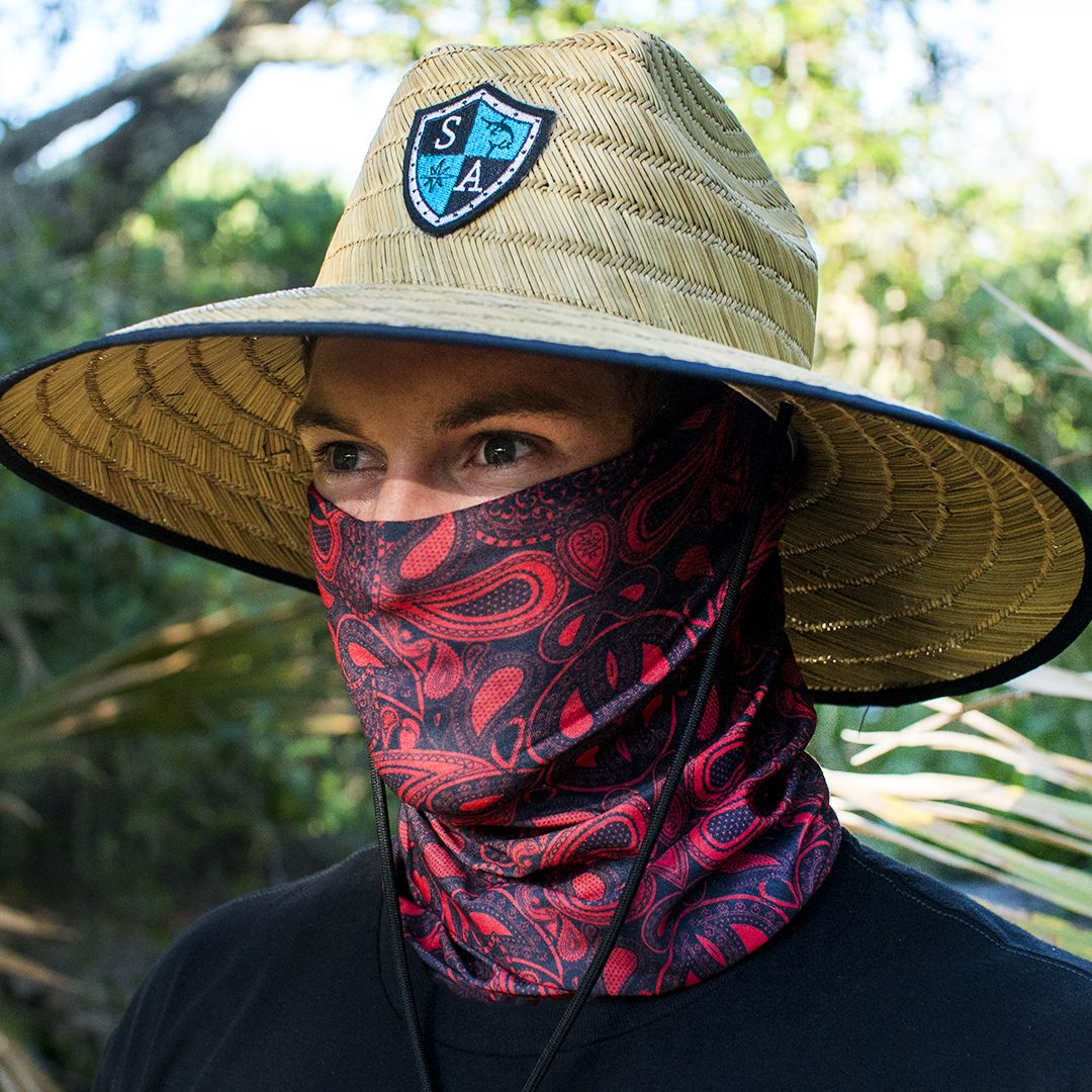 040f81b566c SA Co. Shield Straw Hat   Red Paisley Face Shield™. Get it all in a Pack  Deal for one low price today!