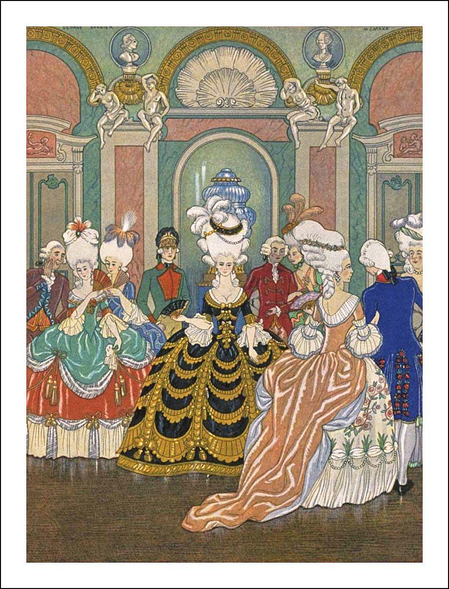 Les Liaisons Dangereuses George Barbier Book Graphics Art Deco Illustration Art Illustration
