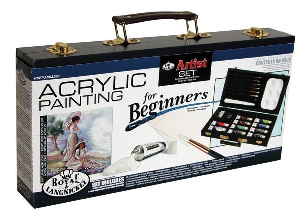 Art supplies acrylic painting set beginner artist wooden