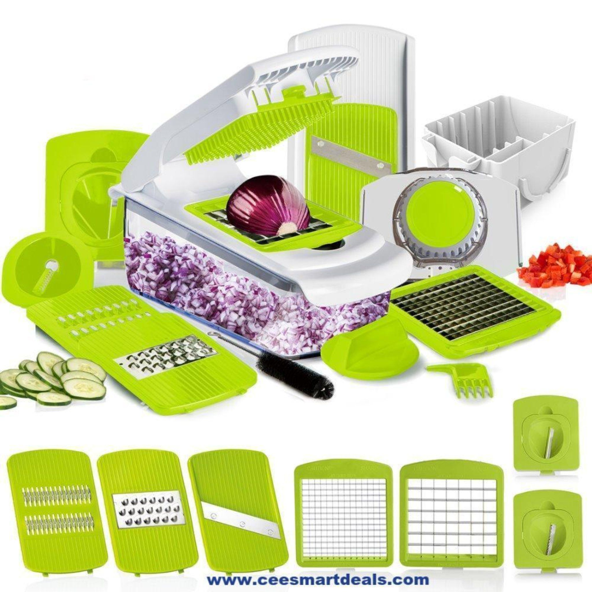 Mandoline Slicer Grater Vegetable Cutter Onion Slicer Kitchen Chopper Peeler Set