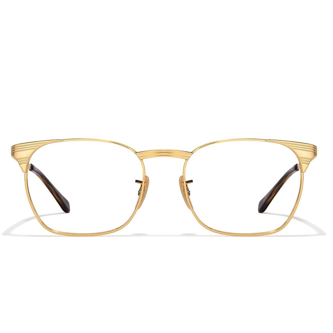 a5eb4ba6fd Ray-Ban RX6386-2500 Golden Frame And Golden Tortoise Temple Unisex Square  Eyeglasses