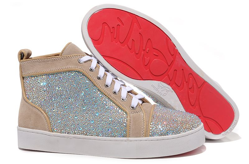 Jeweled Colorful DiamondRed Beige Louis High Christian Louboutin WDIEH29