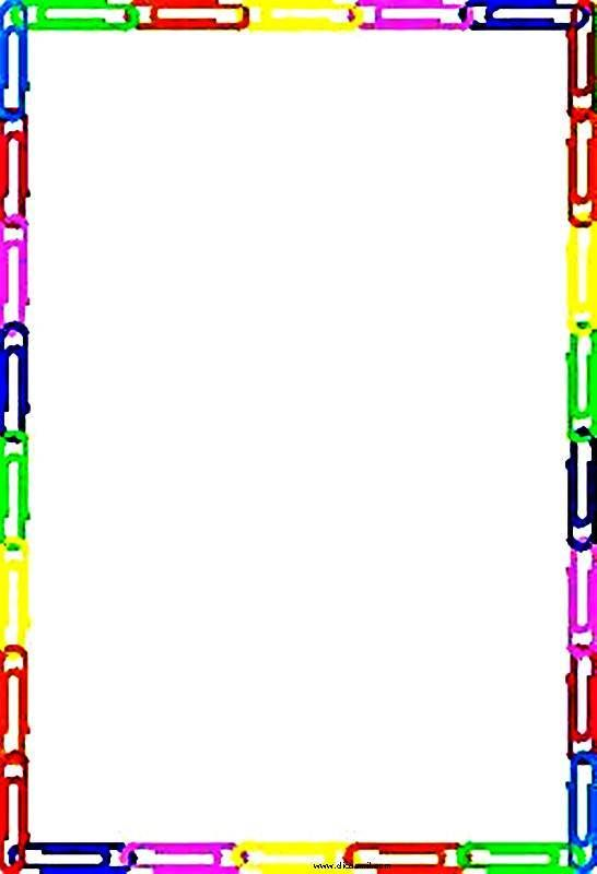 CANAL PEDAGÓGICO: Bordas coloridas