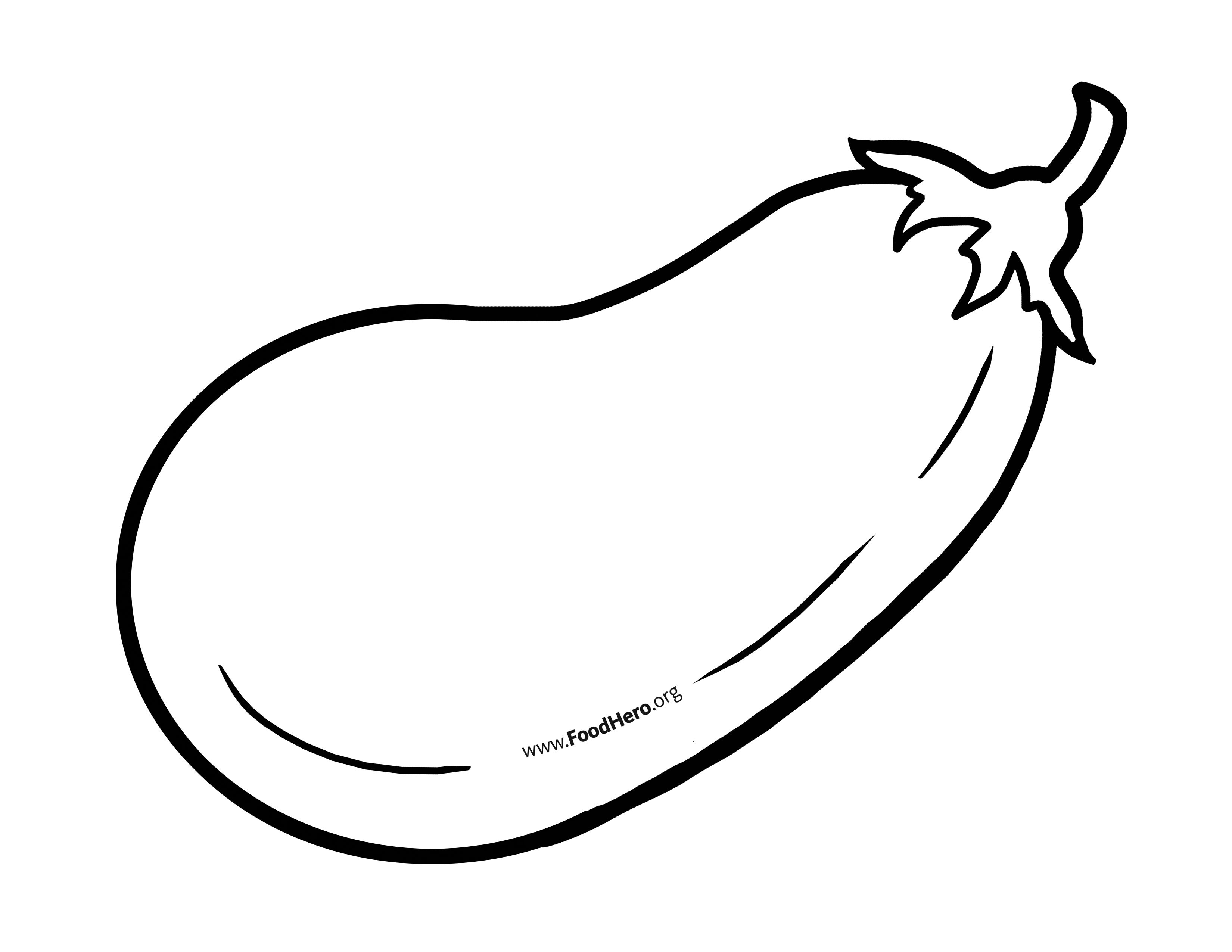 Eggplant Outline Food Hero Blackline Illustration Eggplant Bulletinboardideas Foodhero Fruit Coloring Pages Coloring Pages For Kids Coloring Pages
