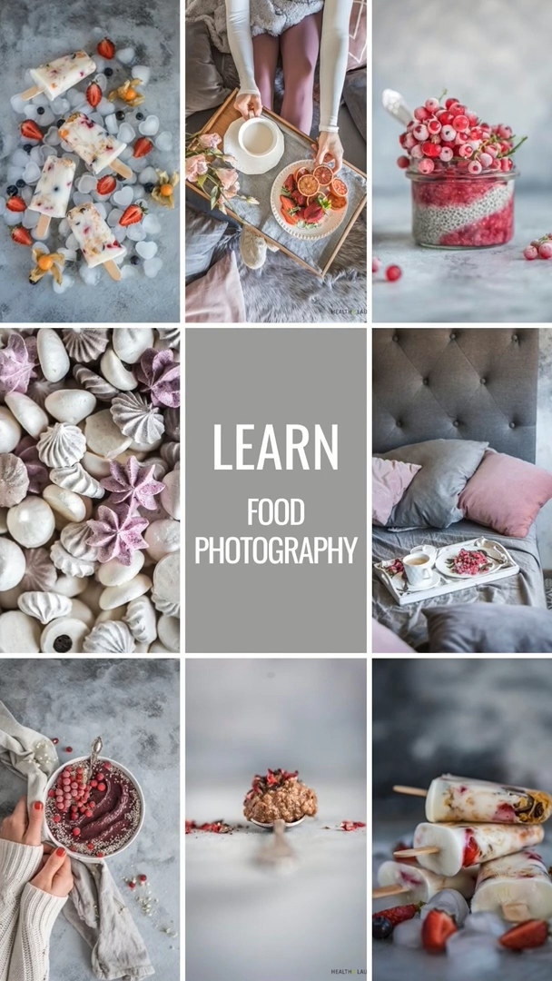 21 + 21 -Day Food Photography Challenge Bundle (490 + pages!) by Healthy Laura Food Photography & Styling Laura Kuklase @healthylauracom HealthyLaura food blogger tips & inspiration as food photographer & food blogger. My experience and tips for food styling as a food blogger. #foodphotographytips #foodstylingtips #photogaphyworkflow #foodphotography #foodstyling #foodblogging