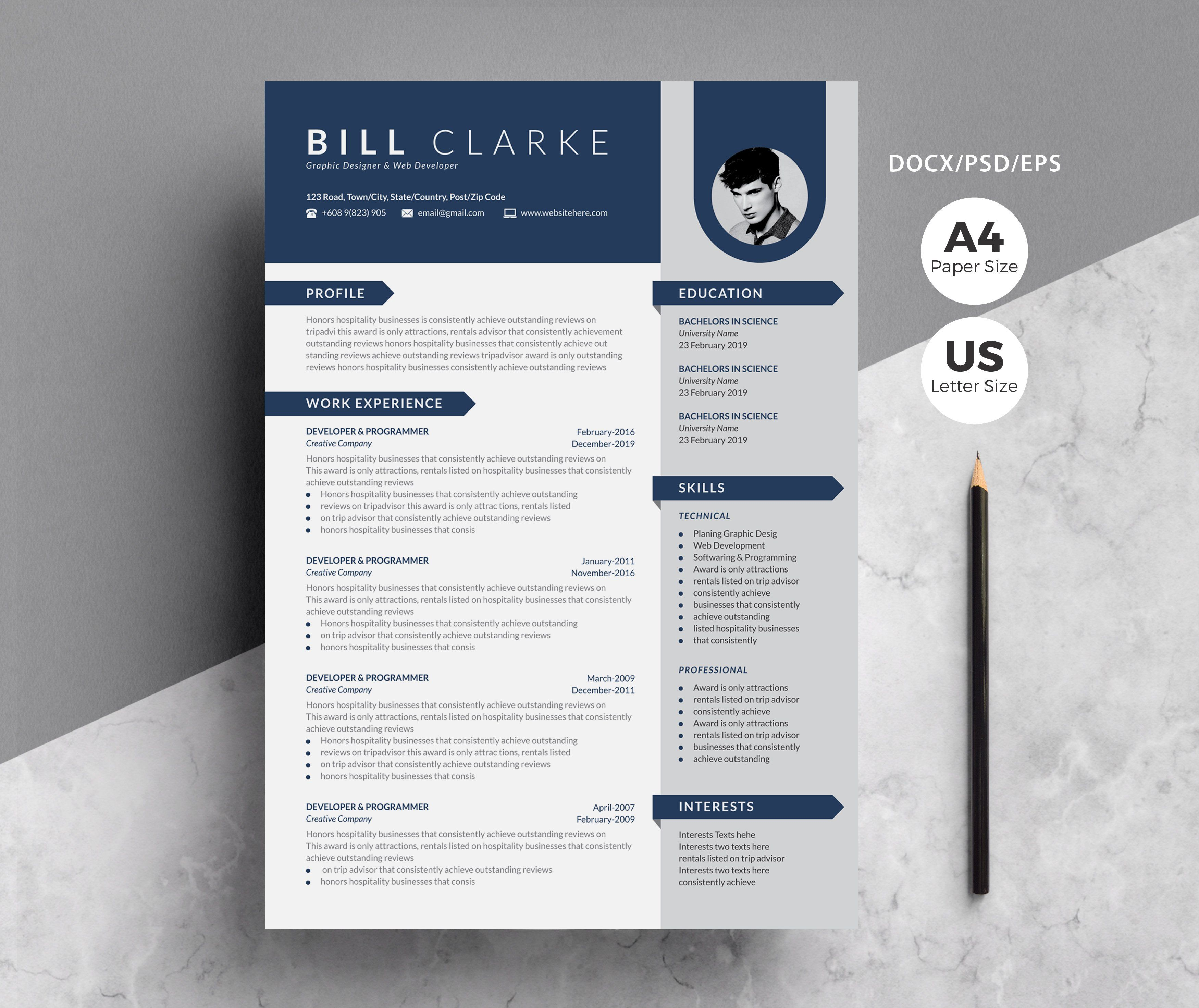 Word Resume Template Cover Letter By Whitegraphic On Creativemarket Graphicdesign Art Design Ill Cover Letter For Resume Lettering Cover Letter Template