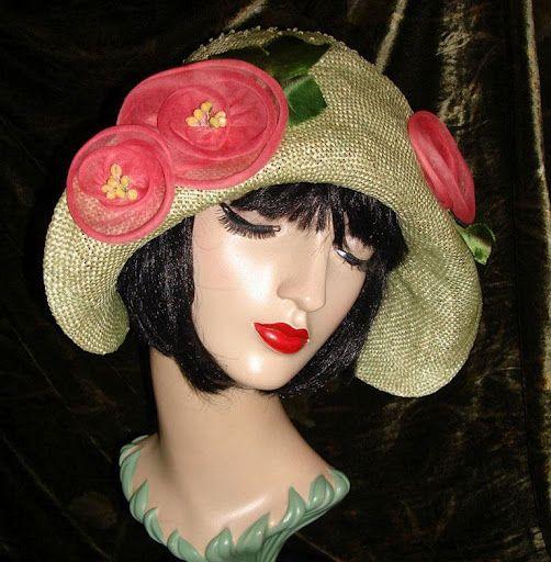 My handmade vintage organdy blooms.    Slide Album: Berti Borrell Couture Hats - Berti Borrell - Picasa Web Albums