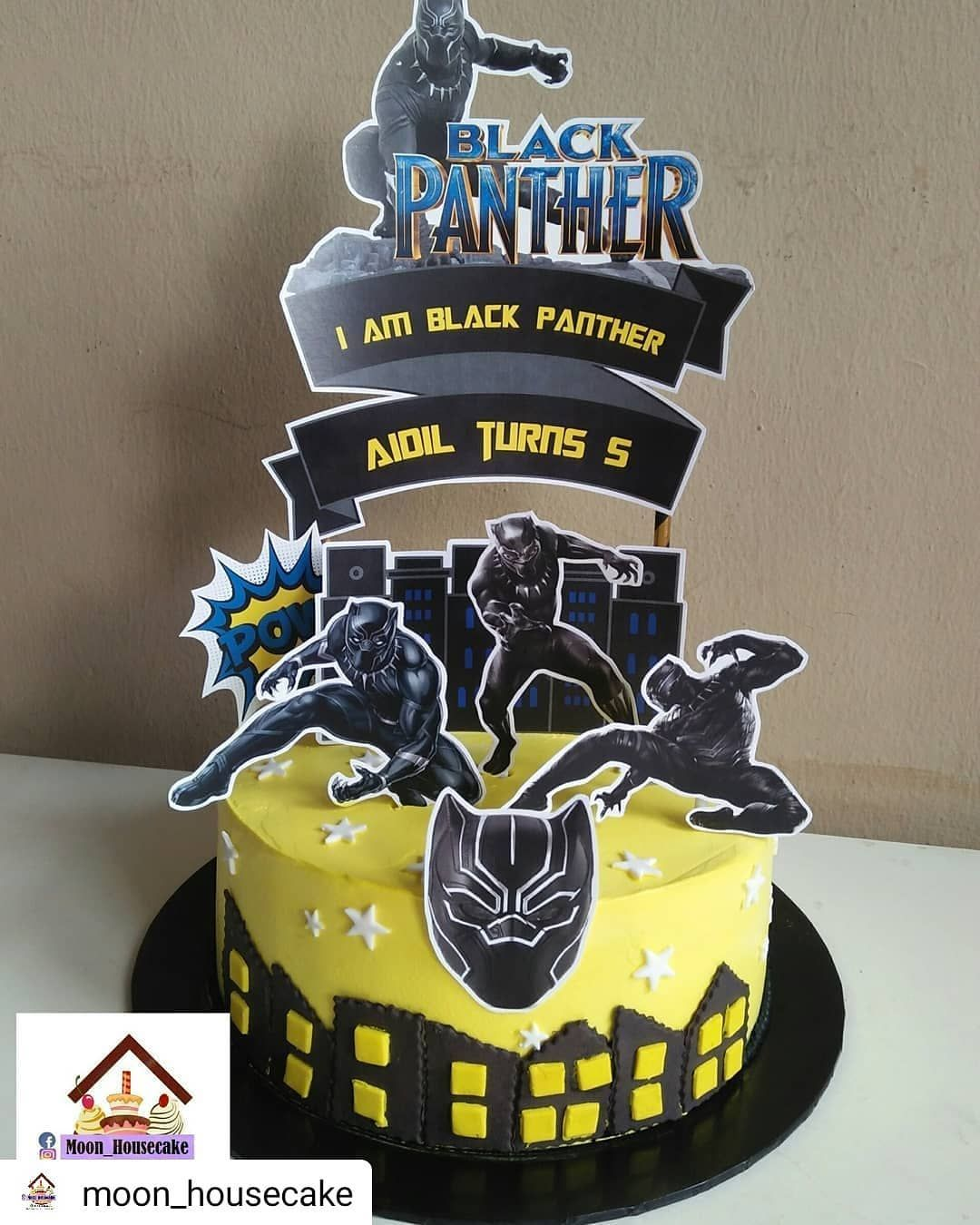 35+ Black panther happy birthday cake topper ideas in 2021