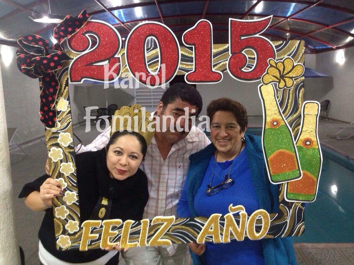 Marco para foto de Fin de año! 2015 frame | Photo Booths ****Cuadros ...