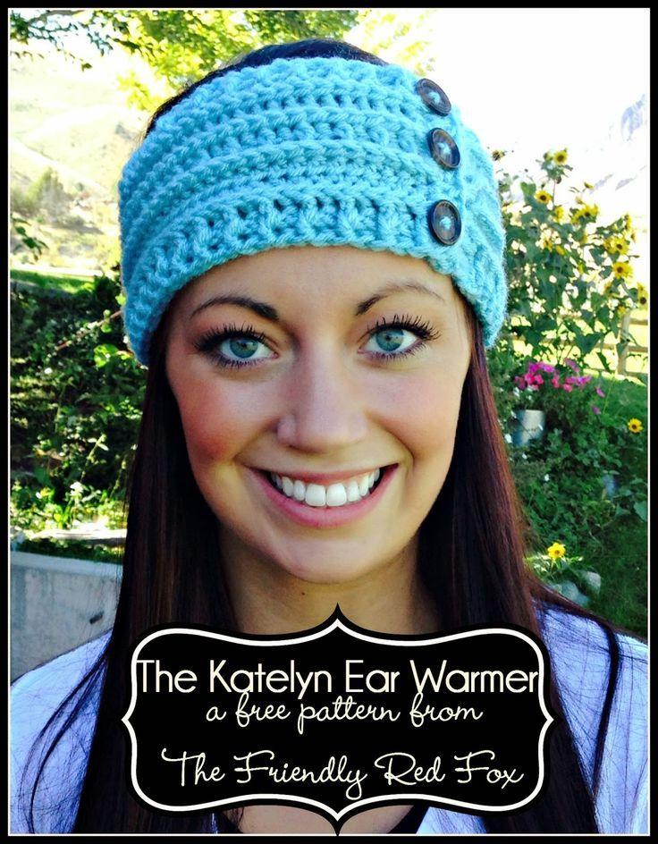 Free Ear Warmer Pattern | Hütten, Mütze und Häkeln