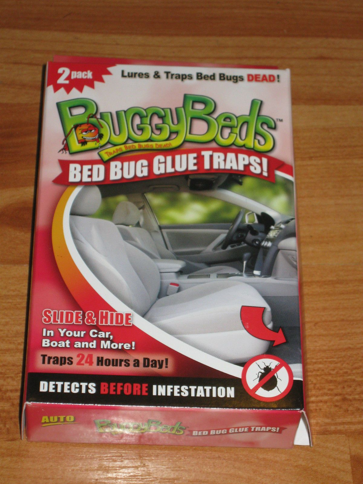 2 New Auto Bed Bug Monitors Glue Traps from Buggybeds
