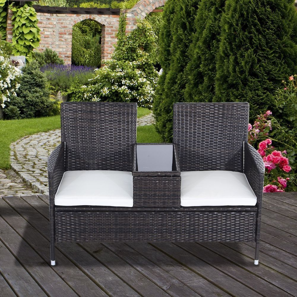 Garden Furniture Set 2 Seater Patio Outdoor Deck Love Companion