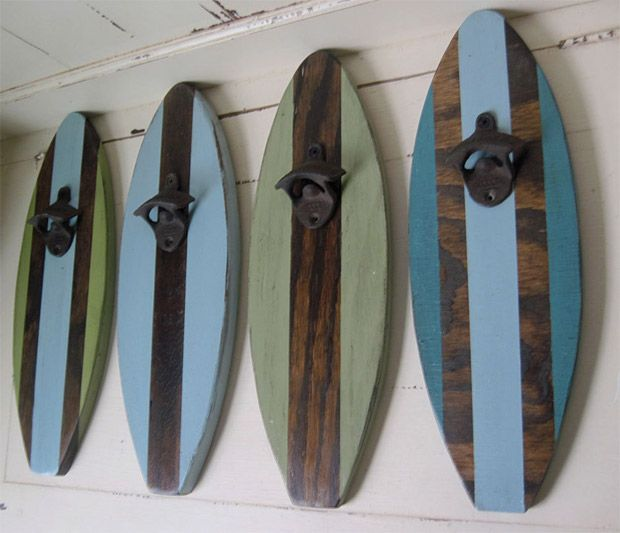 Surfboard Wall Mount Bottle Opener at awsm.com | For the ...