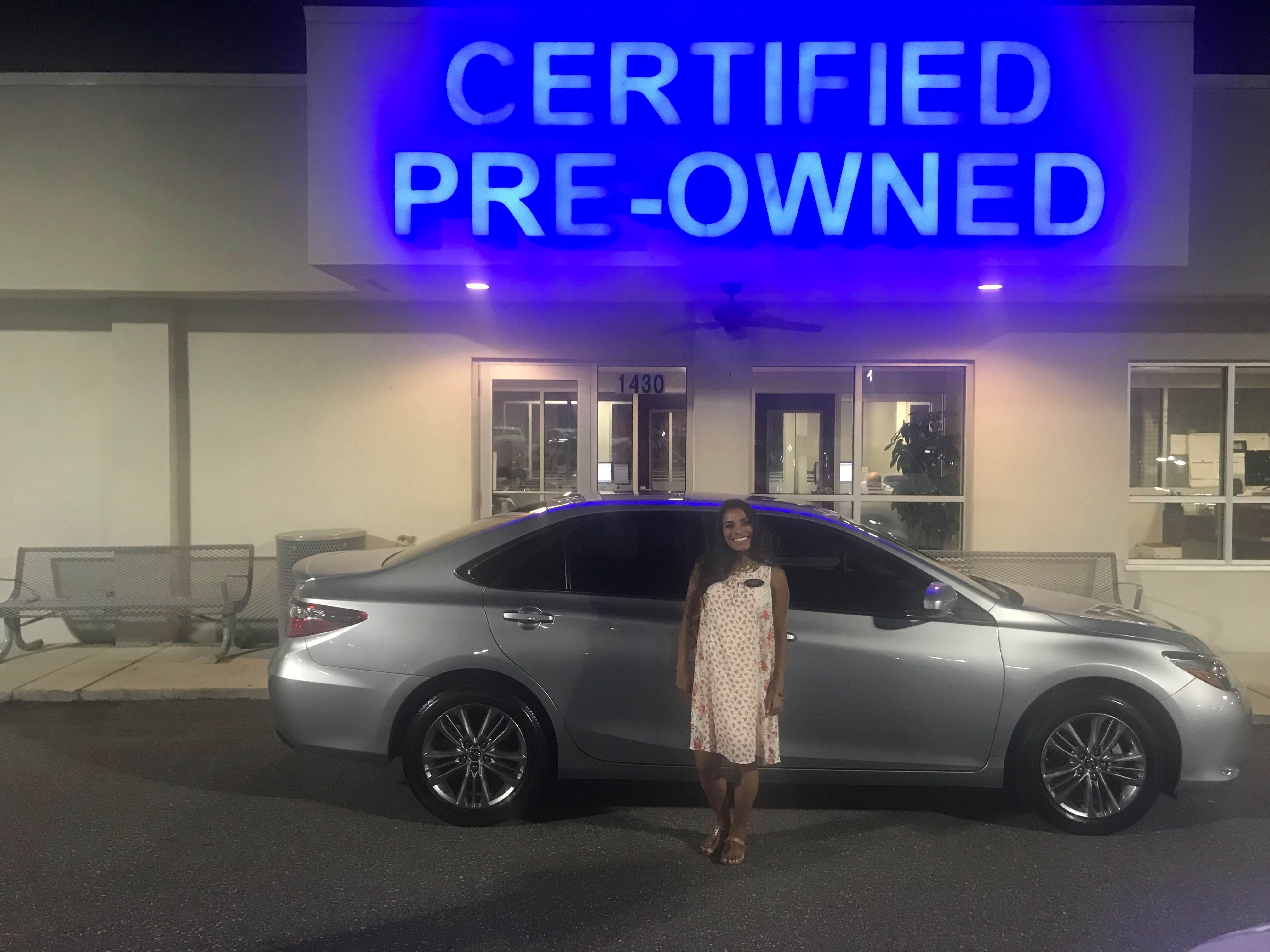 Thanks Mrs. Madera! Have fun in your new 2016 Toyota Camry
