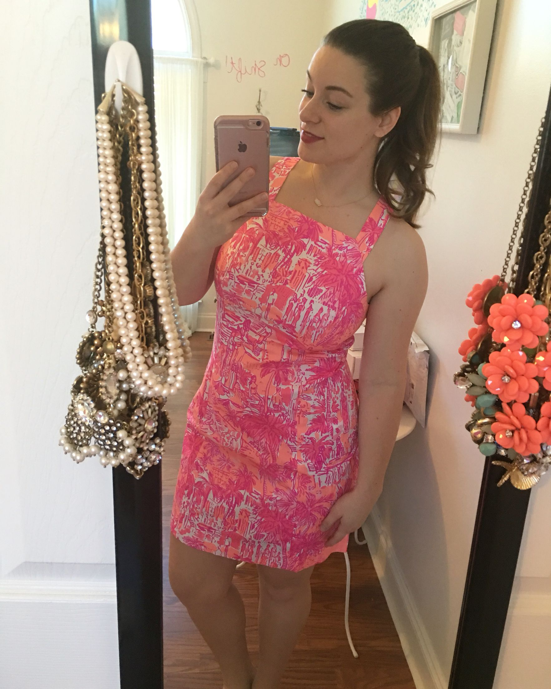 Lilly Pulitzer Simone Shift Dress in Rule Breakers Cheeky Melon ...