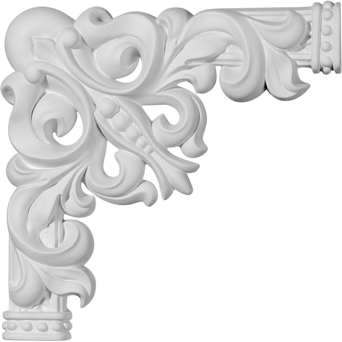 Ekena Millwork Polyurethane Panel Moulding Corner 11in 11 1 4in W X 11 1 4in H Aberdeen Panel Moulding Corner