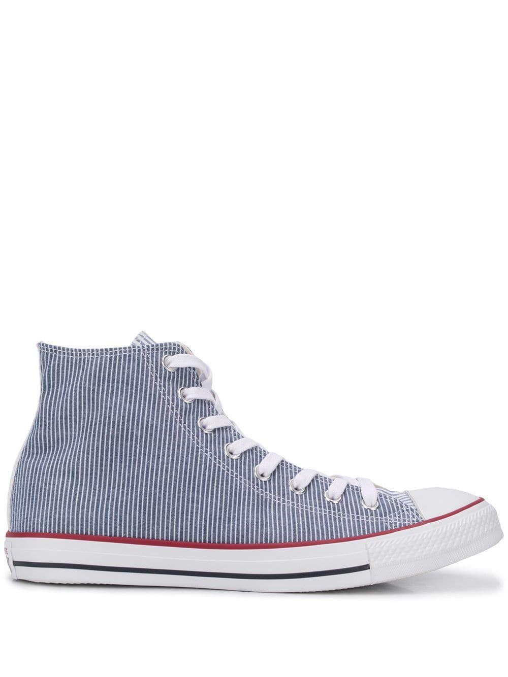 bra konsistens köpa försäljning bästa leverantör Converse pinstripe hi-top sneakers - Blue   Sneakers blue ...