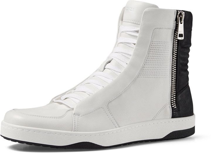 High top sneakers, Gucci leather