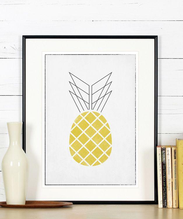 Küche Posters, Obst, Birne, Ananas, Wassermelone Obst bilder - wandbilder f r die k che