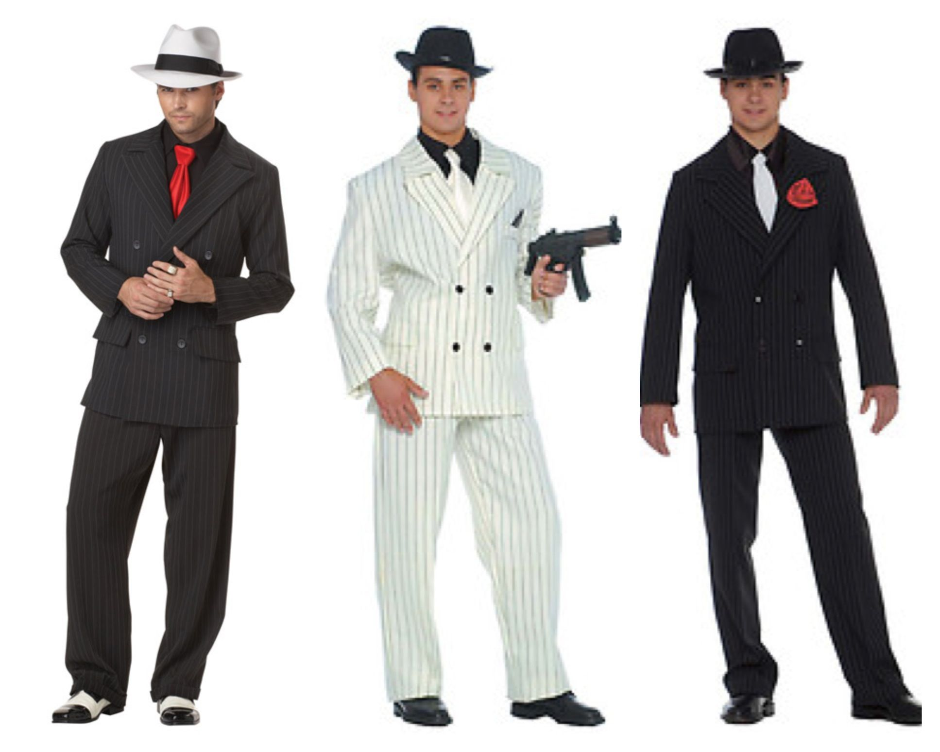 Mens 20s Vintage Gangster Boss Costume Male Fancy Suit 1920s Gangsta Zoot Razzle