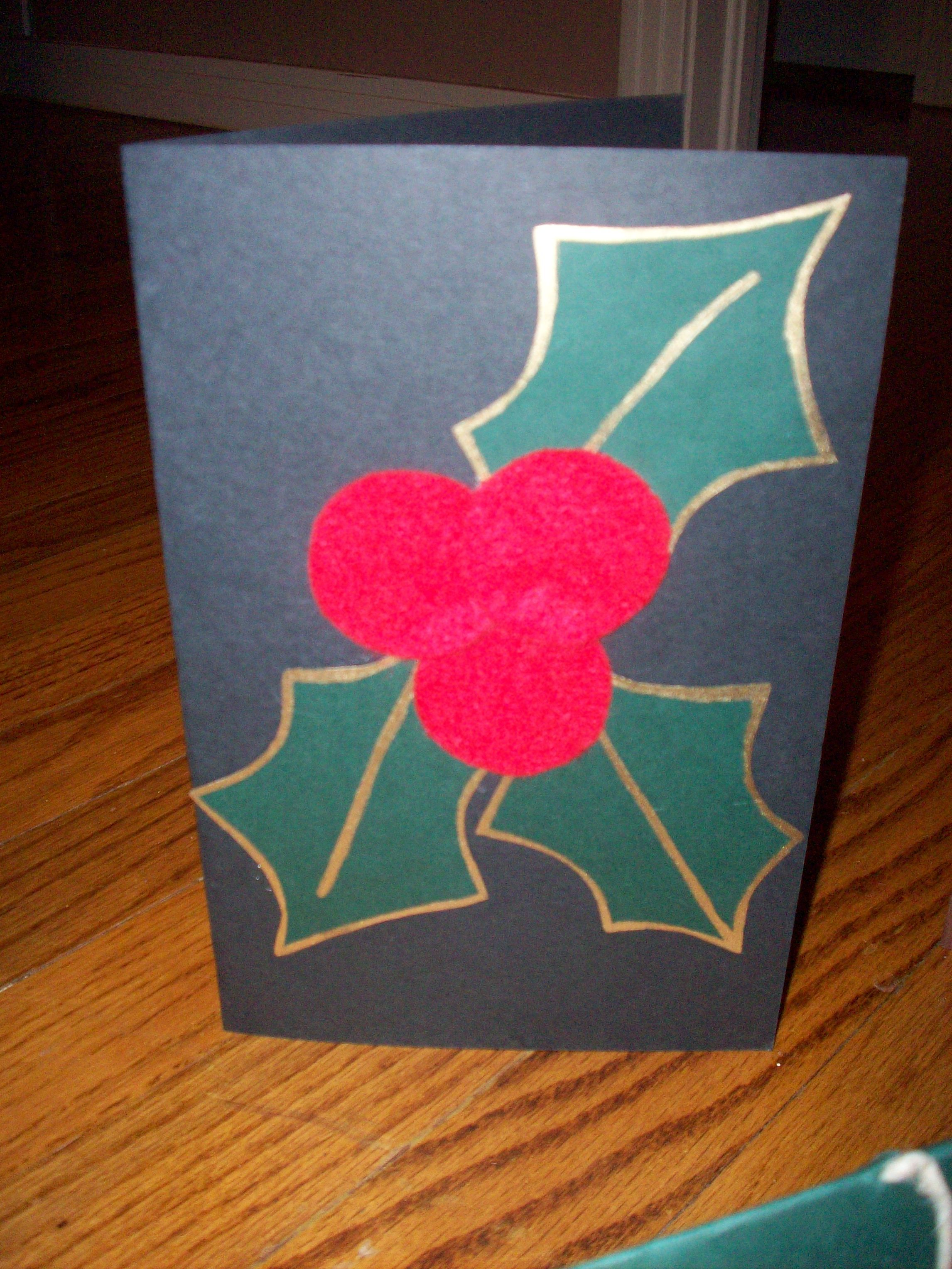Quick And Easy Homemade Christmas Card Great If You Forgot To Buy