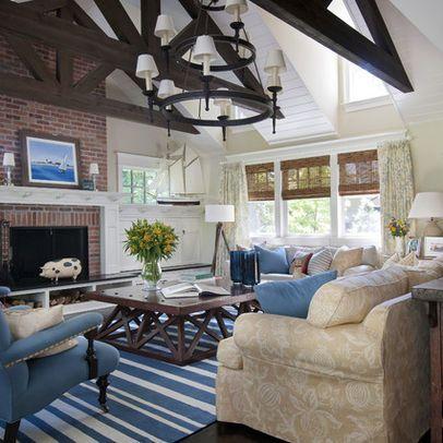 Major renovaton | Living room decor inspiration, Red brick ...