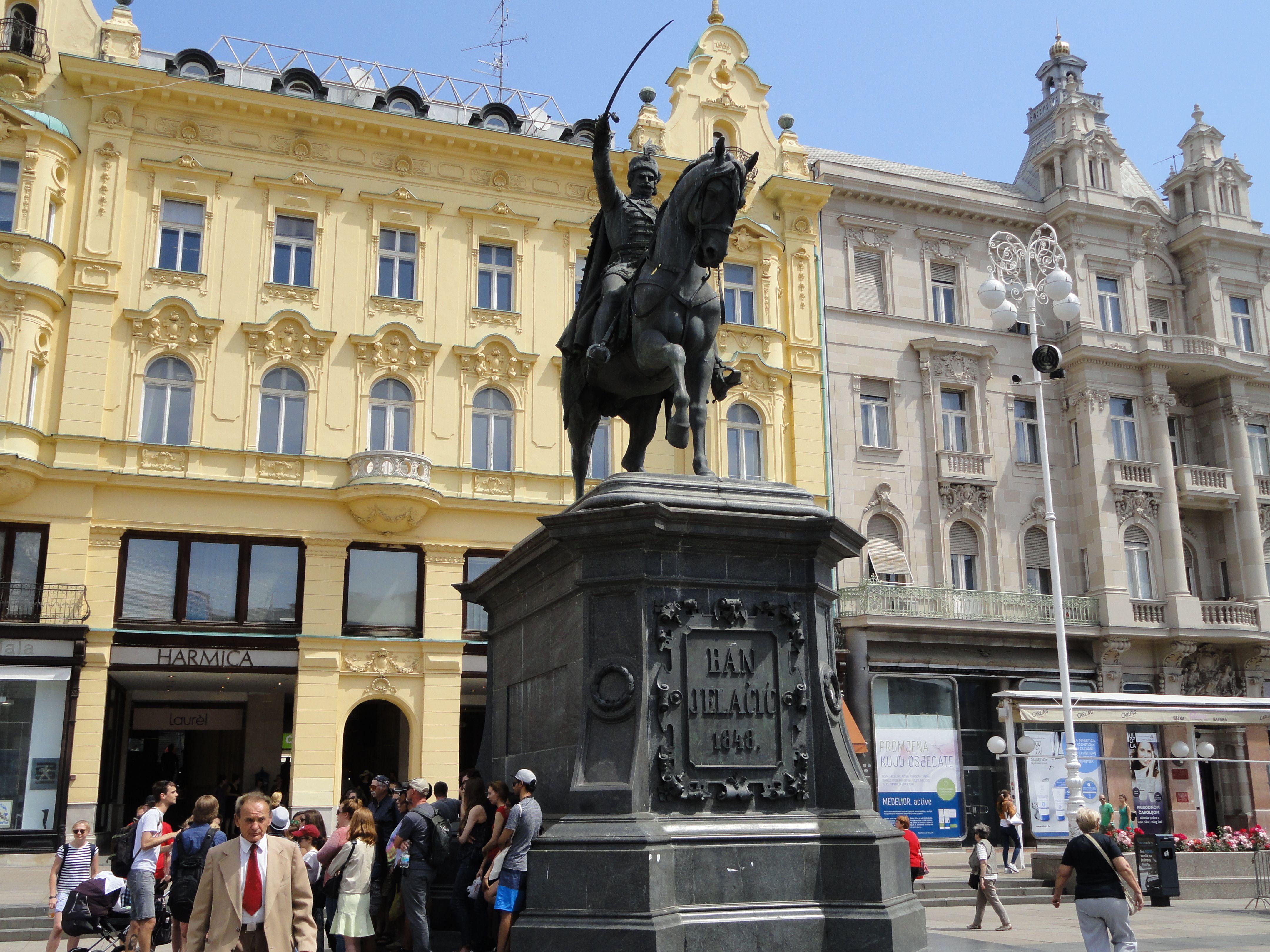 Ban Jelacic Square Zagreb Croatia May 29 2016 Zagreb Croatia Building